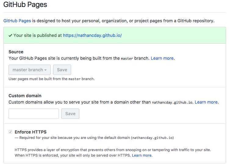 HTTPS via CloudFlare for GitHub Pages